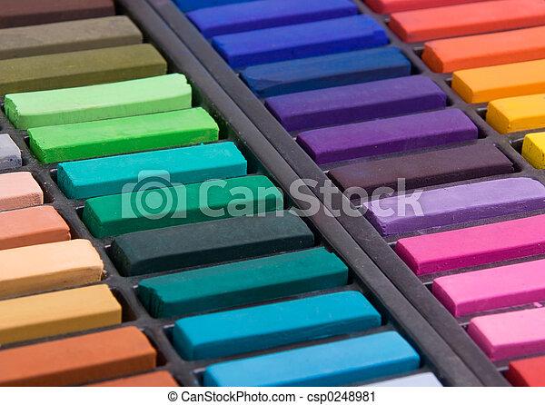 Soft pastels close up - csp0248981