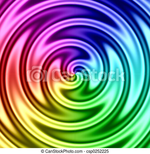 Rainbow Liquid Twirl - csp0252225