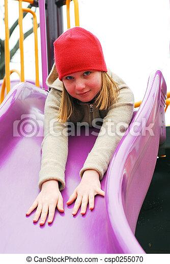 Girl on playground - csp0255070