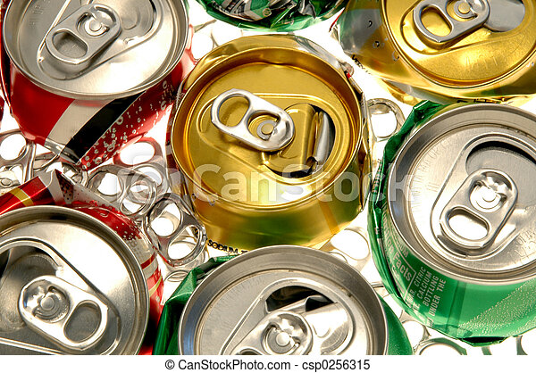 Crushed Soda Cans - csp0256315