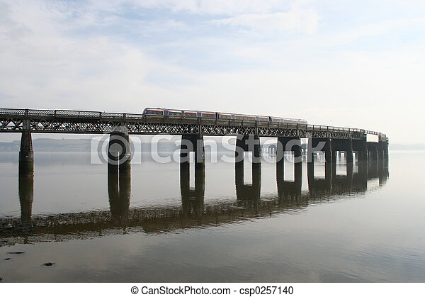 Train on Tay bridge - csp0257140