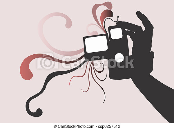 Hand Holding Camera Drawing a Hand Holding a Video Camera