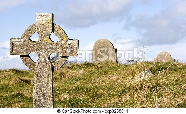 Graveyard scene - csp0258011