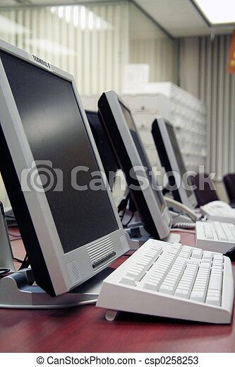 ordinateurs, bureau - csp0258253