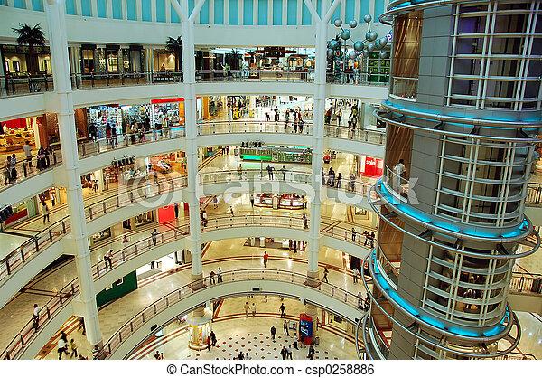 einkaufszentrum, shoppen - csp0258886