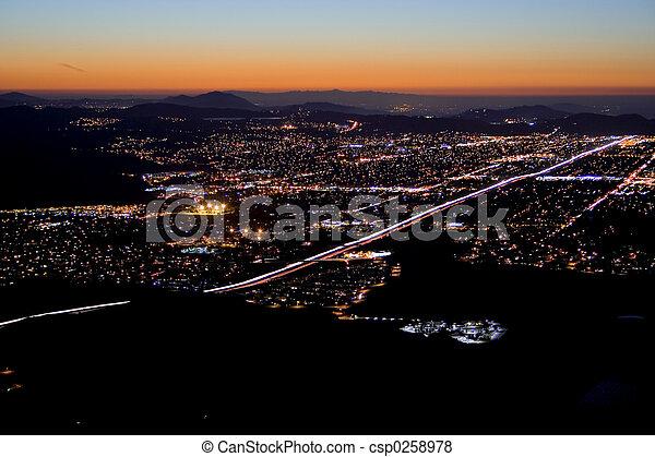 city night fall - csp0258978