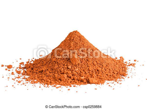 Red ochre pigment pile - csp0259884