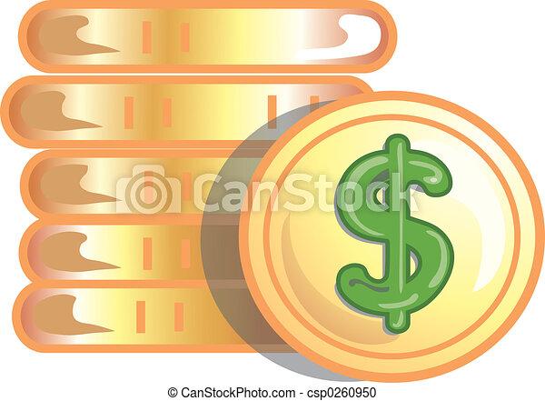 Gold coins icon - csp0260950
