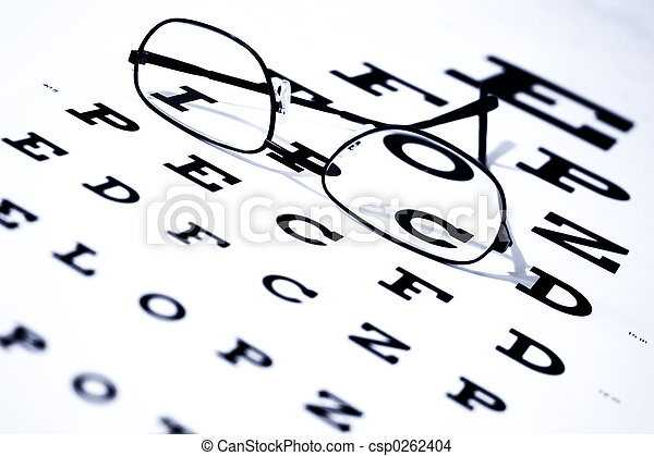 Eye Chart Glasses - csp0262404