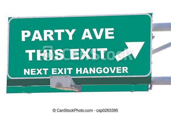 Party Avenue Exit - csp0263395