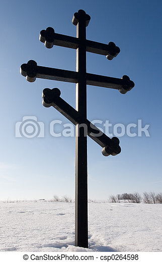 Eastern Orthodox Cross - csp0264598