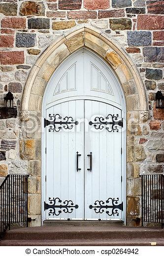 門口, 教堂 - csp0264942