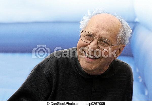 Laughing old man - csp0267009