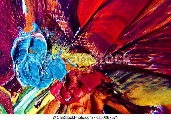 peinture, résumé - csp0267571