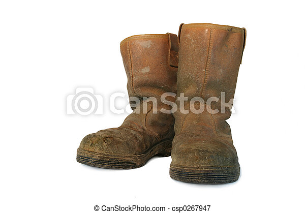 Dirty Leather Builders Boots - csp0267947