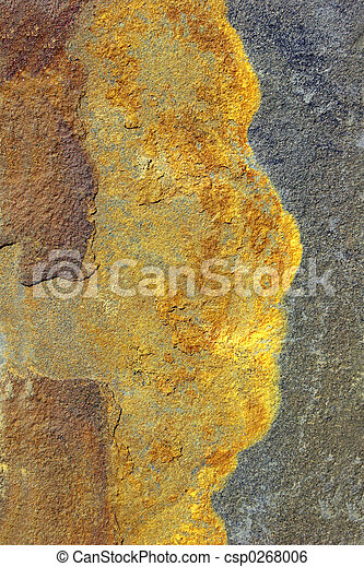 Abstract Face on Slate - csp0268006