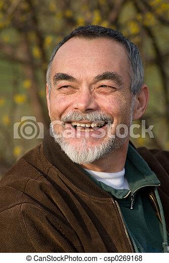 elderly man in jacket - csp0269168
