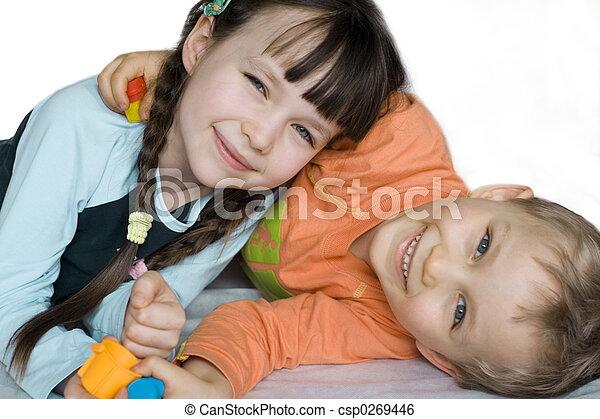 smiling children - csp0269446