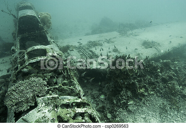 Aircraft wreck ww2 - csp0269563
