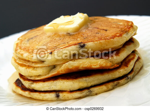 chocolate chip pancakes - csp0269932