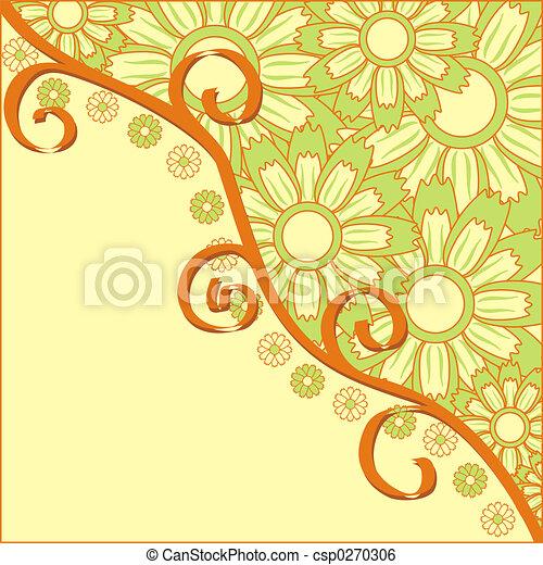 Summer background, vector - csp0270306