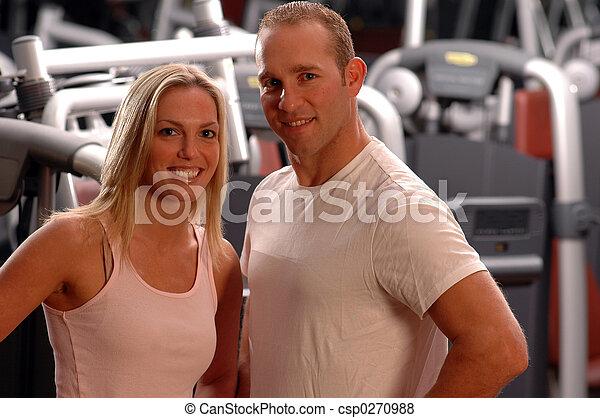 fitness couple - csp0270988