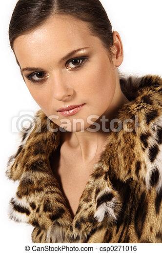 girl in a fur coat - csp0271016