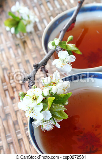 Tea and Blossom - csp0272581
