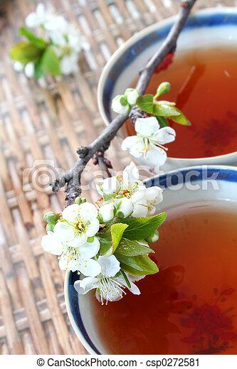 Tea and Blossom - csp0272581