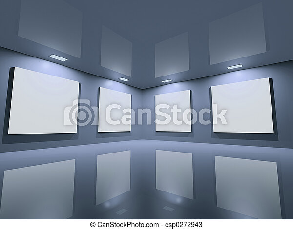 Website gallery - clean blue grey - csp0272943