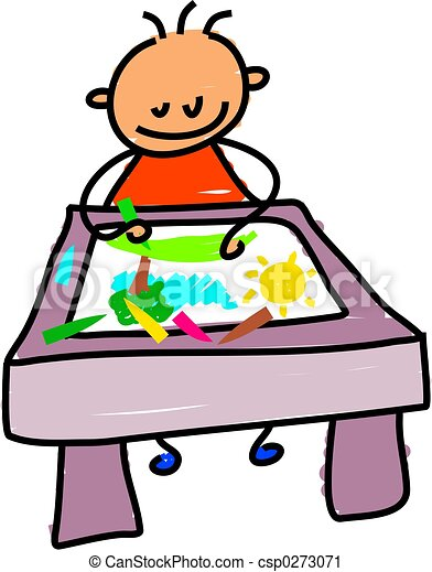drawing kid - csp0273071