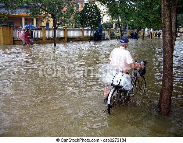 Flooding in Vietnam - csp0273184