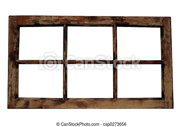 Weathered Window Frame - csp0273656