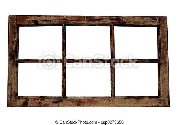 Weathered Window Frame - csp0273656