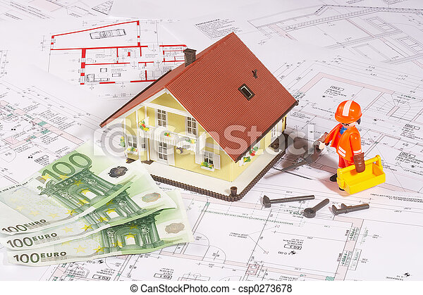 my house on plans - csp0273678