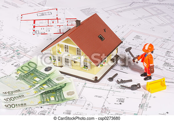 my house an the plan - csp0273680