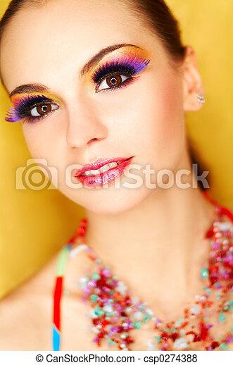 Artificial Eyelashes - csp0274388