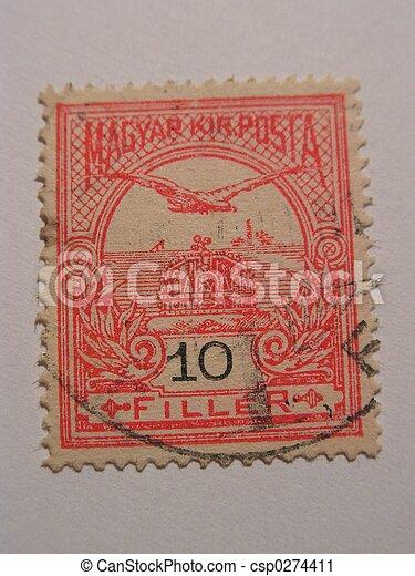 old magyar stamp - csp0274411