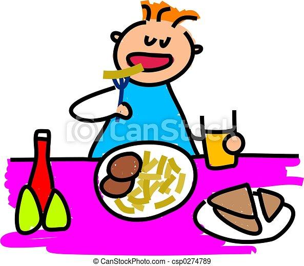 almuerzo, mi - csp0274789