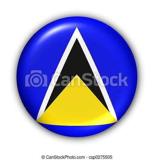 Saint Lucia Flag - csp0275505