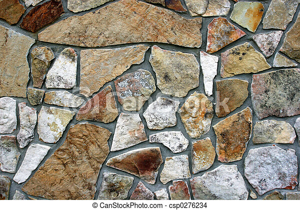 Decorative Rock Wall - csp0276234