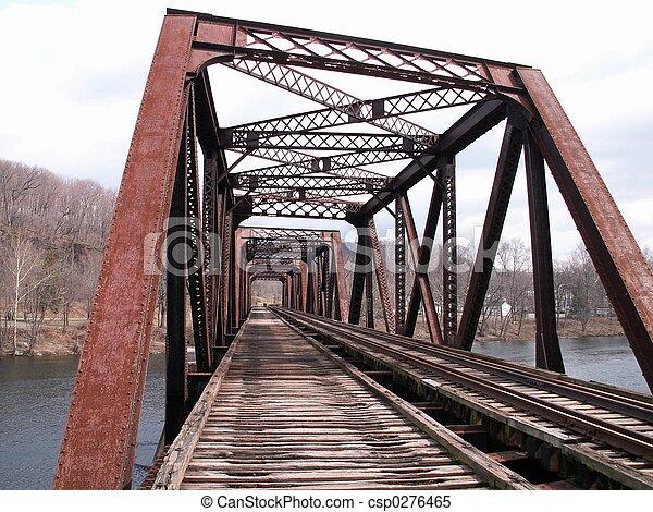 pont, chemin fer - csp0276465