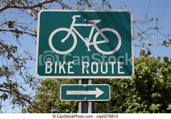 Bike route sign - csp0276810