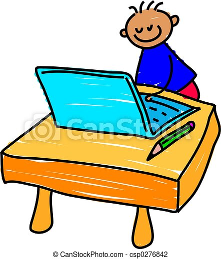 computer kid - csp0276842