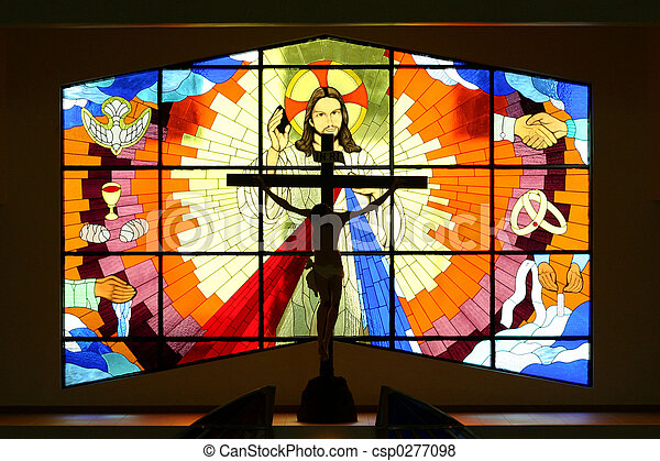 Church Stained Class - csp0277098