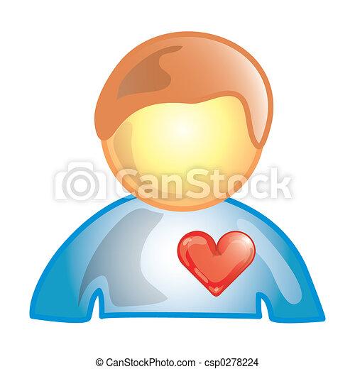 Heart patient icon - csp0278224