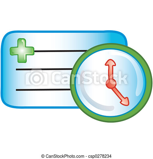 Patient appointment icon - csp0278234