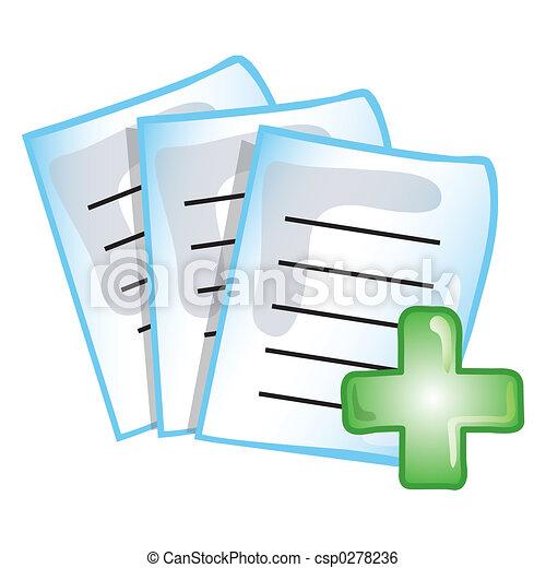 Patient records icon - csp0278236
