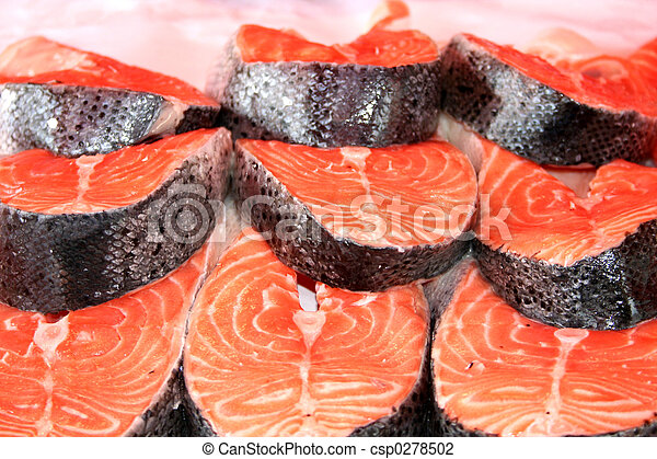 Salmon Steaks - csp0278502