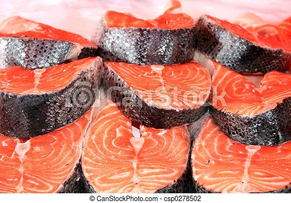 Salmon Steaks - csp0278502